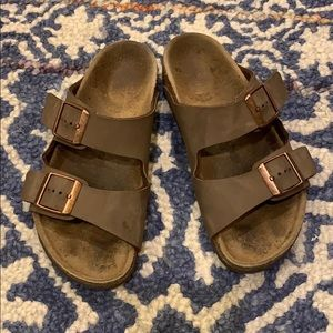 Children's size 33 Brown Leather Birkenstock